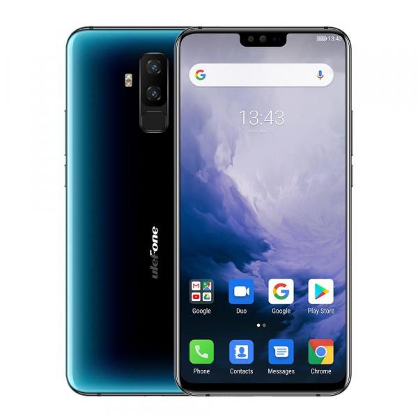 Telefon mobil Ulefone T2, 6GB RAM, 128GB ROM, Android 9.0, MediaTek Helio P70, ARM Mali-G72 MP3, Octa-Core, 6.7 inch, 4200 mAh, Dual SIM 1