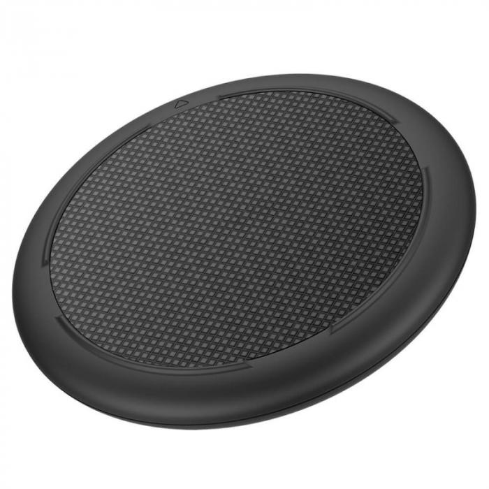 Incarcator wireless Ulefone UF003 Negru cu standard Qi, Incarcare rapida 15W, Subtire si cu strat anti-alunecare imagine dualstore.ro 2021