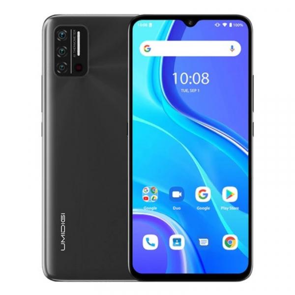 Telefon mobil UMIDIGI A7S Gri, 4G, Termometru non-contact, 6.53 HD+, 2GB RAM, 32GB ROM, Android 10 GO, QuadCore, Dual SIM, 4150mAh