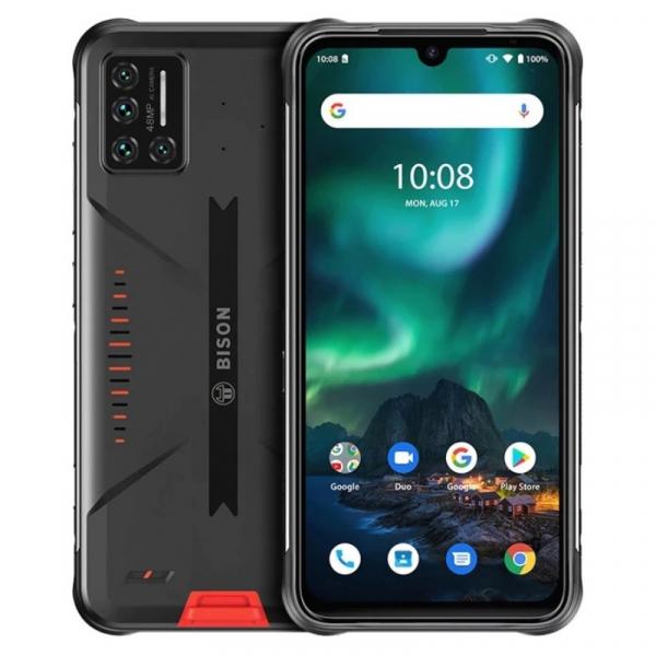 Telefon mobil UMIDIGI Bison Orange, 4G, 6.3 FHD+, 6GB RAM, 128GB ROM, Android 10, Helio P60 OctaCore, NFC, IP69K, Dual SIM, 5000mAh