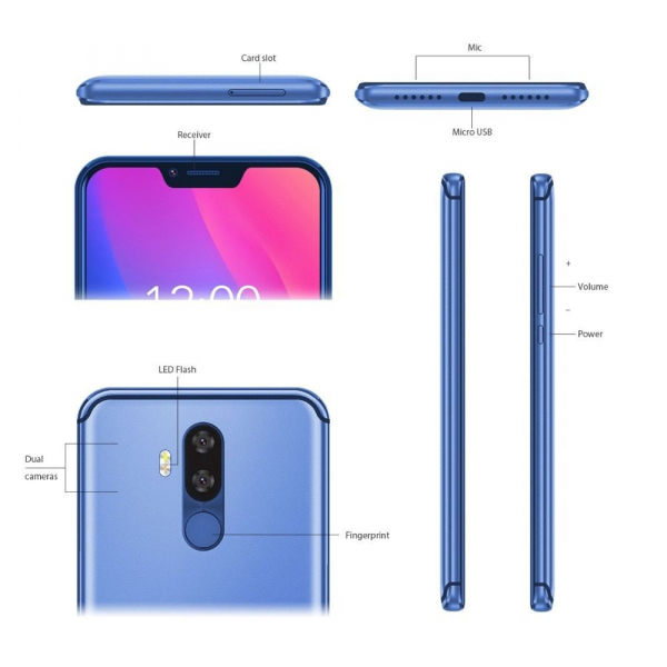 Telefon mobil Vernee M8 Pro, IPS 6.2inch, OctaCore, 6GB RAM, 64GB ROM, Android 8.1, Face ID, Incarcare Wireles, NFC, 4100mAh, AI Camera 6