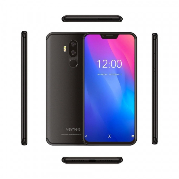 Telefon mobil Vernee M8 Pro, IPS 6.2inch, OctaCore, 6GB RAM, 64GB ROM, Android 8.1, Face ID, Incarcare Wireles, NFC, 4100mAh, AI Camera 3