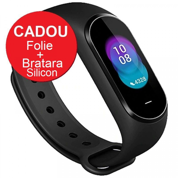 Smartband Xiaomi Mi Band 4, LCD TouchScreen, Waterproof, Ritm Cardiac, Fitness Tracker, Bluetooth 5.0, 135 mAh imagine dualstore.ro 2021