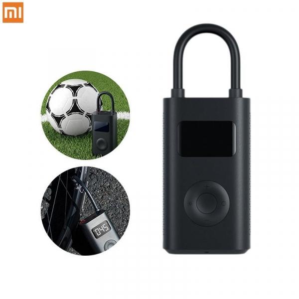 Pompa de aer electrica Xiaomi Mi Portable Air Pump, 2000 mAh, Monitorizare digitala a presiunii, Auto-oprire, 150psi, Micro-USB 0