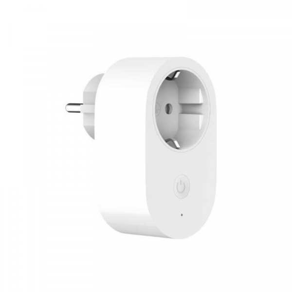 Priza WiFi smart Xiaomi Mi Smart Power Plug Alb, 16A, 3680W, Control vocal, Compatibilitate Android si iOS, Global imagine dualstore.ro 2021
