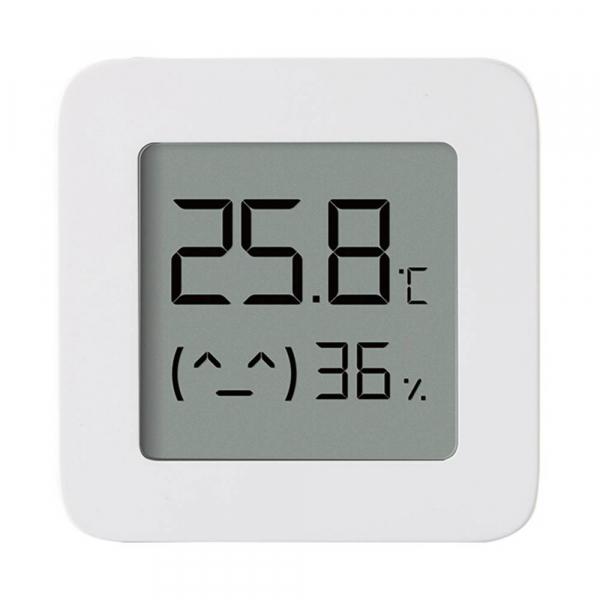 """Termohigrometru wireless Xiaomi Mi Temperature and Humidity Monitor 2, LCD 1.5"""", Bluetooth v4.2, CR2032, Alb 0"""