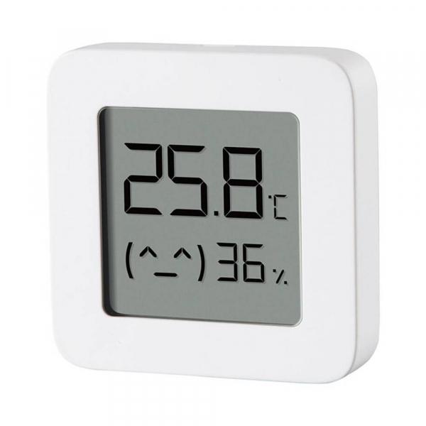 """Termohigrometru wireless Xiaomi Mi Temperature and Humidity Monitor 2, LCD 1.5"""", Bluetooth v4.2, CR2032, Alb 2"""