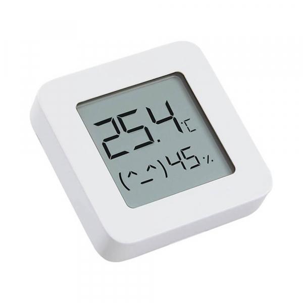"""Termohigrometru wireless Xiaomi Mi Temperature and Humidity Monitor 2, LCD 1.5"""", Bluetooth v4.2, CR2032, Alb 3"""