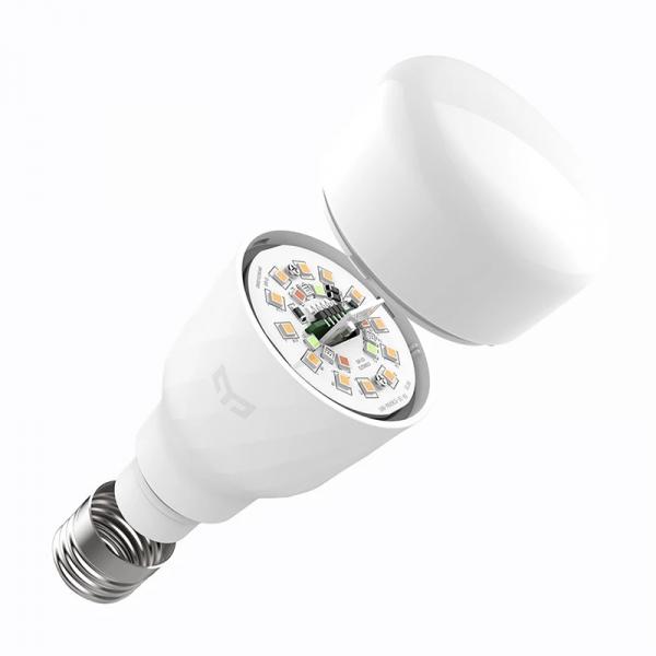 Bec smart Xiaomi Yeelight LED Bulb 1S V2 color, 8.5W, 800 lumeni, E27, WiFi 2.4G, Control vocal,Reglaj intensitate, Temporizator, Aplicatie 2