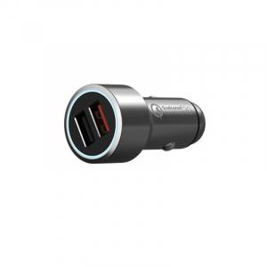 Incarcator auto Xiaomi 70MAI Midrive C02, Dual USB, Incarcare rapida Qualcomm QC 3.0, Intrare 12V/24V, Iesire 5V/3A, Carcasa metalica, Gri3