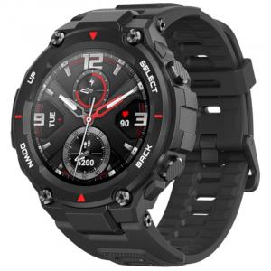 Smartwatch Xiaomi Huami Amazfit T-Rex, AMOLED 1.3 inch, GPS, Waterproof 5ATM (suporta inot), Bluetooth 5.0, 390 mAh, Negru0