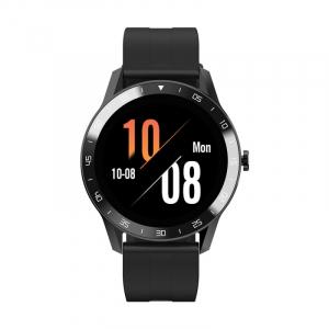 Smartwatch Blackview X1, LCD 1.3inch curbat 3D, 64MB ROM, Nodic nRF52832, Bluetooth v5.0, 260mAh, Curea cadou, Negru0