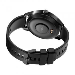 Smartwatch Blackview X1, LCD 1.3inch curbat 3D, 64MB ROM, Nodic nRF52832, Bluetooth v5.0, 260mAh, Curea cadou, Negru3