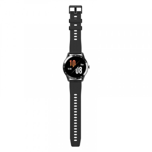 Smartwatch Blackview X1, LCD 1.3inch curbat 3D, 64MB ROM, Nodic nRF52832, Bluetooth v5.0, 260mAh, Curea cadou, Negru4