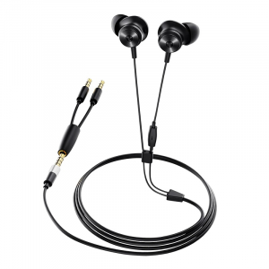 Casti in-ear cu fir Bluedio Li, Difuzor de 13mm, 115dB, 32Ω, Microfon HD, Jack placat cu aur, Design magnetic, Negru0