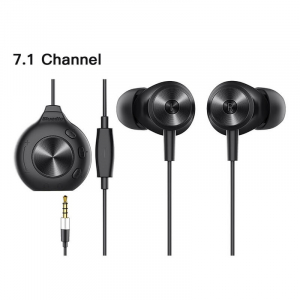 Casti in-ear cu fir Bluedio Li Pro, Placa de sunet 7.1, Difuzor de 13mm, 115dB, 32Ω, Microfon HD, Jack placat cu aur, Design magnetic, Negru1