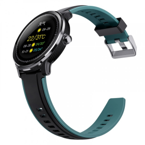 "Smartwatch Kospet Probe, LCD 1.3"",Nordic NRF 52832, Bluetooth v4.2, IP68, Suporta inot,  250mAh, Fibra de carbon, Negru/Verde5"