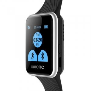 "Smartwatch Mifone W15, Sapphire Touch Screen 1.44"" curbat 2D, 128MB ROM, 64MB RAM, ARM9, Bluetooth v3.0, 405mAh, Negru0"