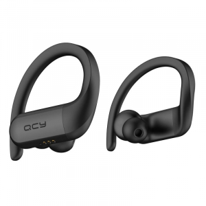 Casti bluetooth semi-in-ear QCY T6 cu cutie de incarcare si transport de 600mAh, 32Ω, Microfon, Bluetooth v5.0, IPX4, Negru1
