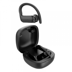 Casti bluetooth semi-in-ear QCY T6 cu cutie de incarcare si transport de 600mAh, 32Ω, Microfon, Bluetooth v5.0, IPX4, Negru2