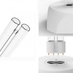 Lampa UV Xiaomi Huayi UV Ozone Sterilization Lamp cu 2 tuburi pentru sterilizare 360° si ozon de 38W Alb1