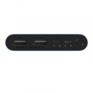 Acumulator extern Xiaomi Mi 18W Fast Charge Power Bank 3 de 10000mAh cu USB Type-C si Micro-USB Negru1