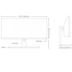 """Monitor curbat pentru gaming Xiaomi Mi Curved Gaming Monitor 34"""", 85% NTSC, 144Hz, Split Screen, Picture-in-picture, Negru, EU4"""
