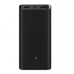 Acumulator extern Xiaomi Mi Power Bank 3 Pro, 20000mAh, USB tip C, Dual USB, Incarcare rapida 45W0