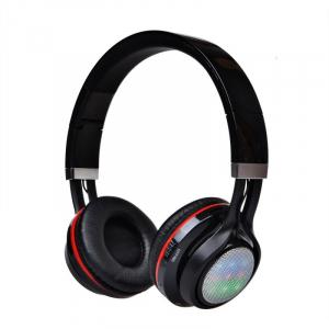 Casti wireless over-ear pliabile Aita AT-BT816 Negru, Bluetooth, Microfon, Slot microSD, Radio FM, Control muzica si volum, 320mAh0