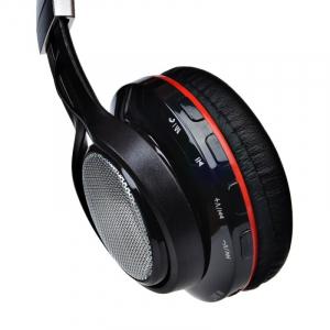 Casti wireless over-ear pliabile Aita AT-BT816 Negru, Bluetooth, Microfon, Slot microSD, Radio FM, Control muzica si volum, 320mAh4