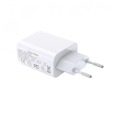 Incarcator Bluedio HNT-PD1802 Alb de 18W cu USB-A si USB Type-C1