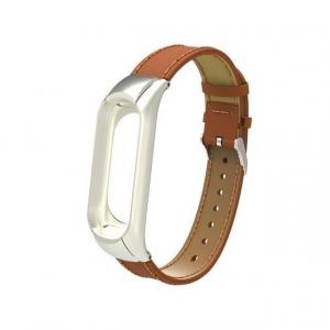 Bratara de schimb din piele pentru Xiaomi Mi Band 5 , confortabila, eleganta si de calitate6