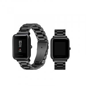 Bratara de schimb din metal cu zale mari pentru smartwatch Xiaomi AmazFit Bip1