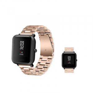 Bratara de schimb din metal cu zale mari pentru smartwatch Xiaomi AmazFit Bip4