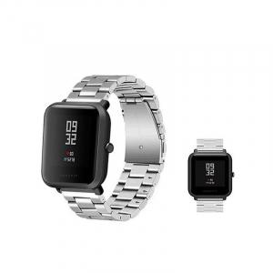 Bratara de schimb din metal cu zale mari pentru smartwatch Xiaomi AmazFit Bip3