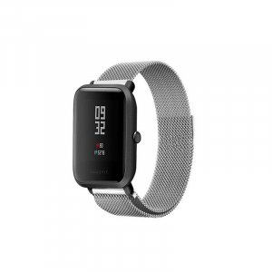 Bratara de schimb din metal cu zale mici pentru smartwatch Xiaomi AmazFit Bip2