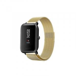 Bratara de schimb din metal cu zale mici pentru smartwatch Xiaomi AmazFit Bip1