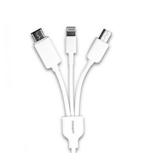 Cablu Incarcare 3 in 1 Pisen (Micro Usb, lightning, tip C)0