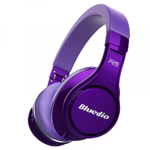 Casti Bluetooth Bluedio U (UFO), 8 difuzoare, Wireless Headphones Over-Ear PPS  Cu Microfon, anularea zgomotelor [0]
