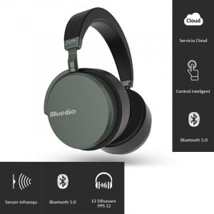 Casti Wireless Bluedio Victory 2 ( V2 ), Stereo, 12 Difuzoare, Bluetooth 5, USB Tip C, Cloud Service, Control Aplicatie0