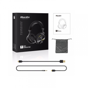 Casti Wireless Stereo Bluedio T5, Anularea zgomotelor, Tip C, Bluetooth, Microfon, Extra Bass2