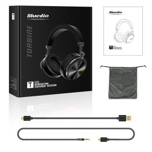 Casti Wireless Stereo Bluedio T5S, Anularea zgomotelor, Tip C, Bluetooth, Microfon, Extra Bass, Senzor Infrarosu2