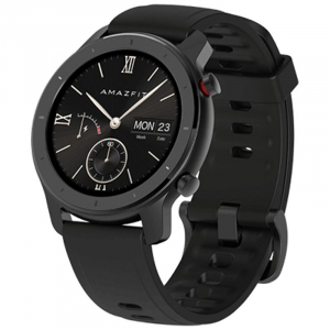 Smartwatch Xiaomi Huami Amazfit GTR, 1.2 inch, 42 mm, Amoled, GPS, 5ATM Waterproof, Bluetooth 5.0, 195 mAh, Global, Negru0