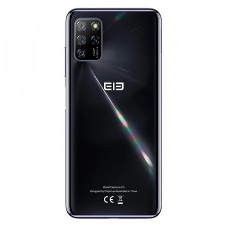 "Telefon mobil Elephone U5 Negru, 4G, 6.4"" FHD+ perforat, 4GB RAM, 128GB ROM, Android 10, Helio P60 OctaCore, NFC, 4000mAh, Dual SIM2"
