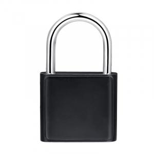 Lacat smart cu amprenta Star Fingerprint Lock fara cheie reincarcabil din aliaj de Zinc cu memorie 10 amprente si autonomie 12 luni Negru1