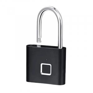 Lacat smart cu amprenta Star Fingerprint Lock fara cheie reincarcabil din aliaj de Zinc cu memorie 10 amprente si autonomie 12 luni Negru2