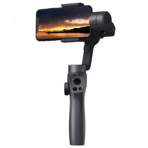 Stabilizator gimbal pe 3 axe FunSnap Capture 2, Auto face tracking, Control zoom, Time lapse, Brat extensibil, 4000mAh, Negru0