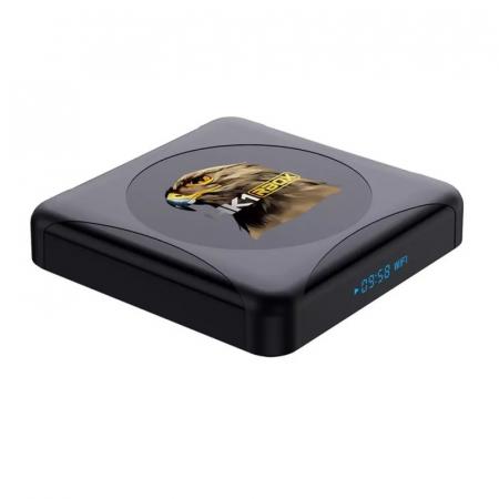 TV BoxHK1 RBOX R1 Mini Smart Media Player, 4K, RAM 4GB, ROM 32GB,Android 10.0,Rockchip RK3318 QuadCore, Slot Card, Wi-Fi dual band3