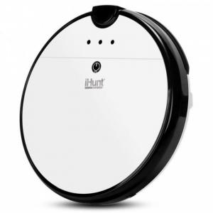 Aspirator inteligent iHunt Vacuum Pro, Mop, Rezervor de apa, Autonomie 120min, Control din aplicatie, Senzor impact, 2200mAh, Alb2