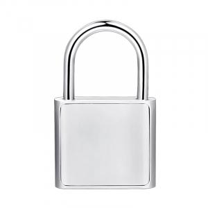 Lacat smart cu amprenta Star Fingerprint Lock fara cheie reincarcabil din aliaj de Zinc cu memorie 10 amprente si autonomie 12 luni Silver1